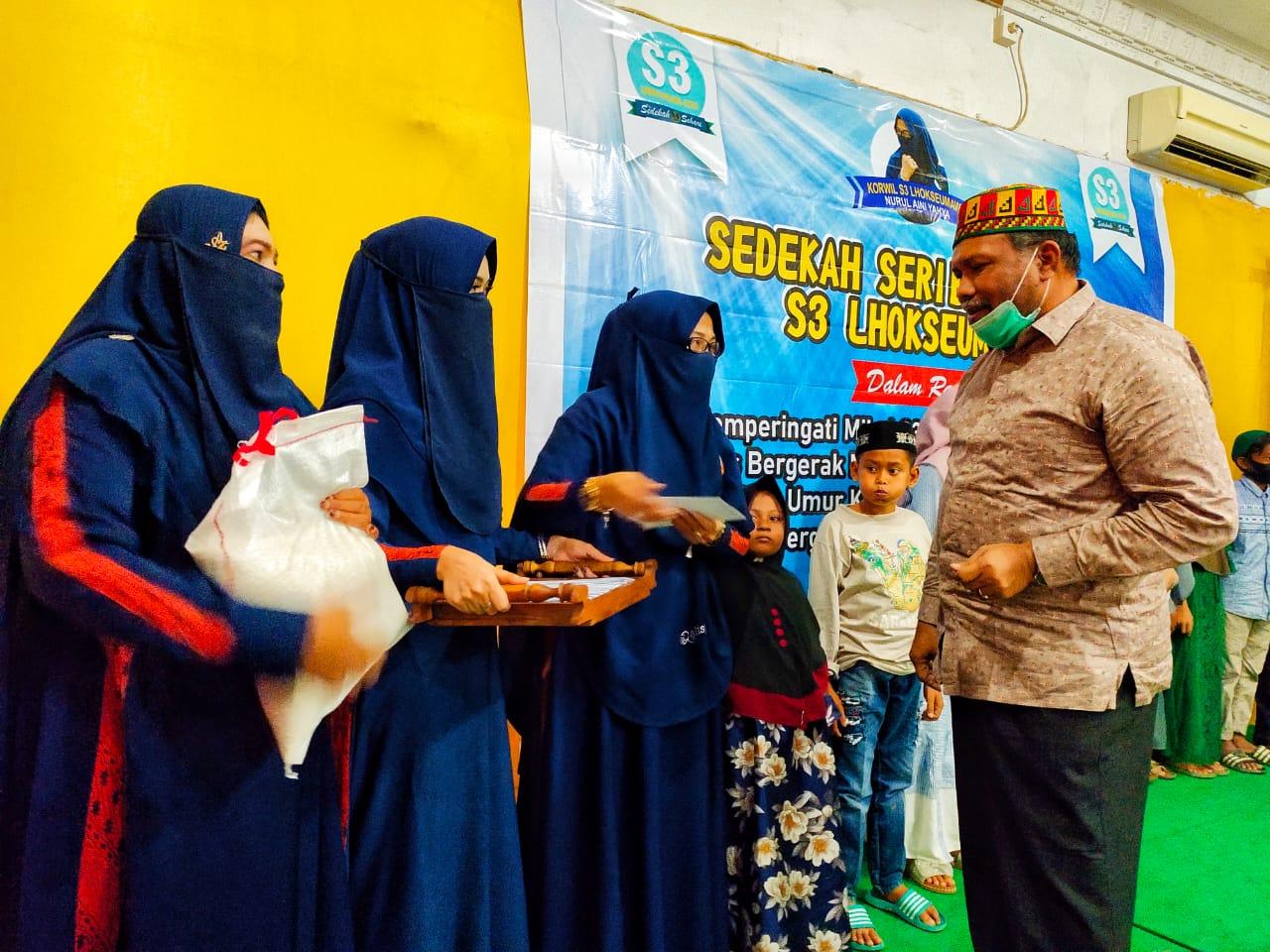 Rayakan Milad Ke-1, Komunitas S3 Lhokseumawe Berikan Santunan Anak Yatim