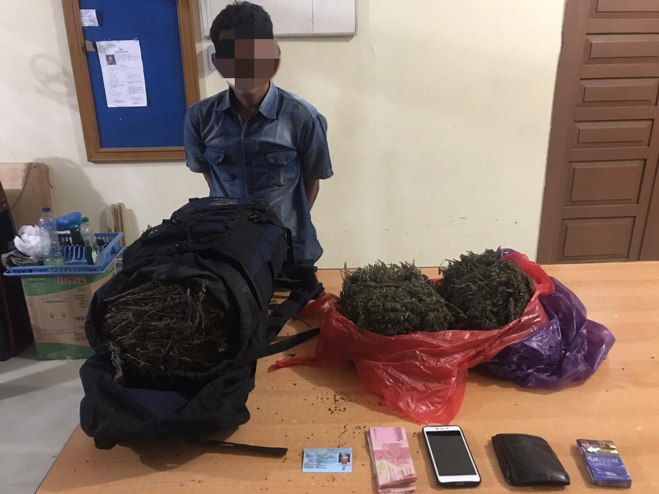 sedang Melakukan Patroli Pengamanan Natal dan Tahun Baru, Polres Lhokseumawe Gagalkan Peredaran 10 Kg Ganja