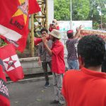 Several Lombok Farmers 'Organizations in The Solidarity of the NTB Peasants Front give Speeches in Front of the Governor's Office.