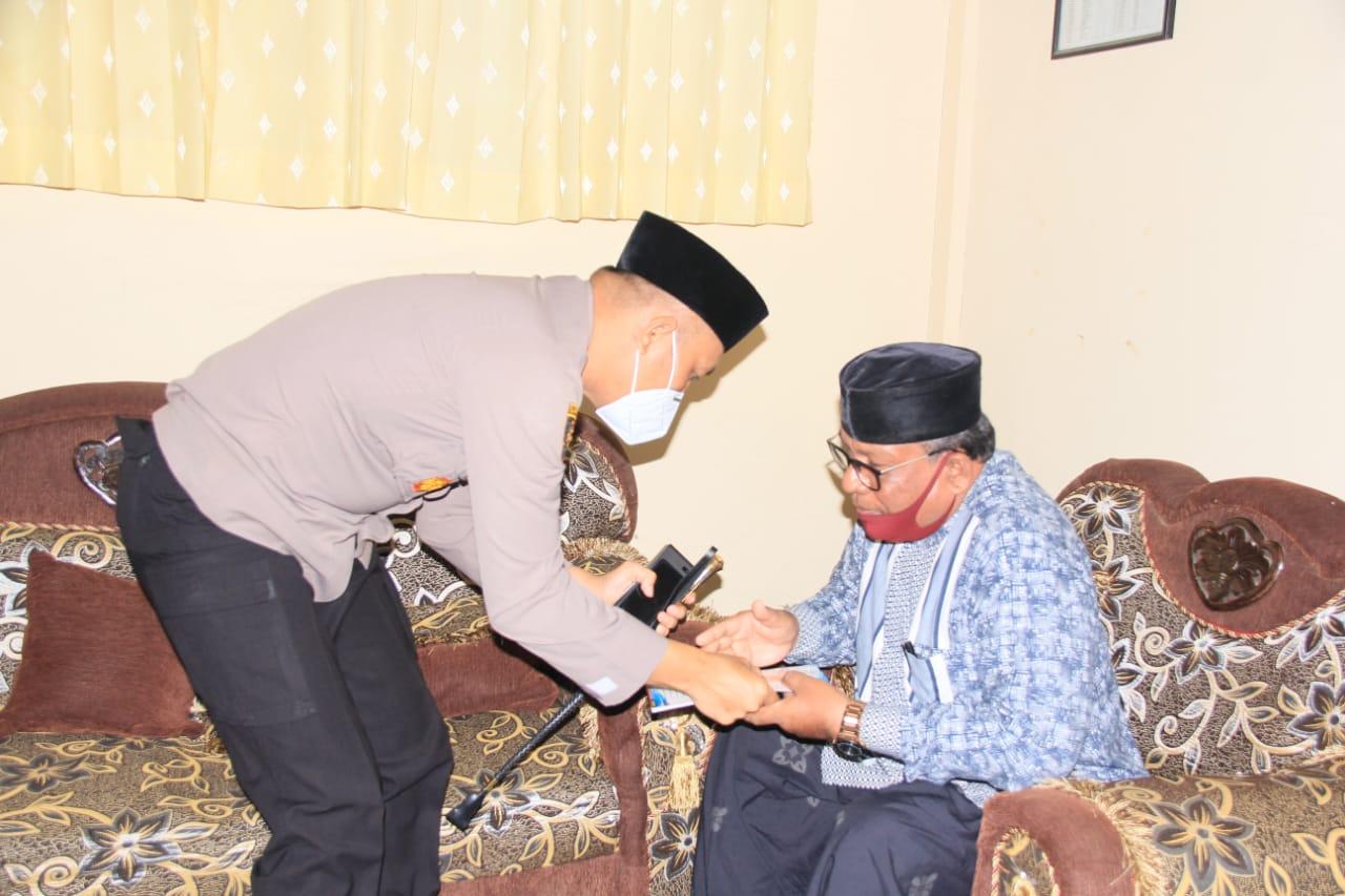 Kapolres Lhokseumawe Koordinasi dengan Ketua MPU Terkait Pemberian Vaksin Covid-19
