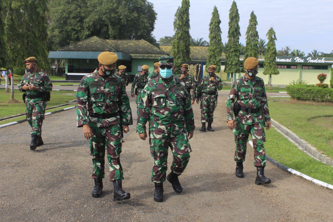 Aswas Binsat Kodam IM Melaksanakan Kunjungan kerja Ke Detasemen Arhanud-001/CSBY.