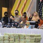 Polda Aceh Ungkap Kasus Narkoba Jaringan Internasional, 353 Kg Sabu Berhasil Diamankan.