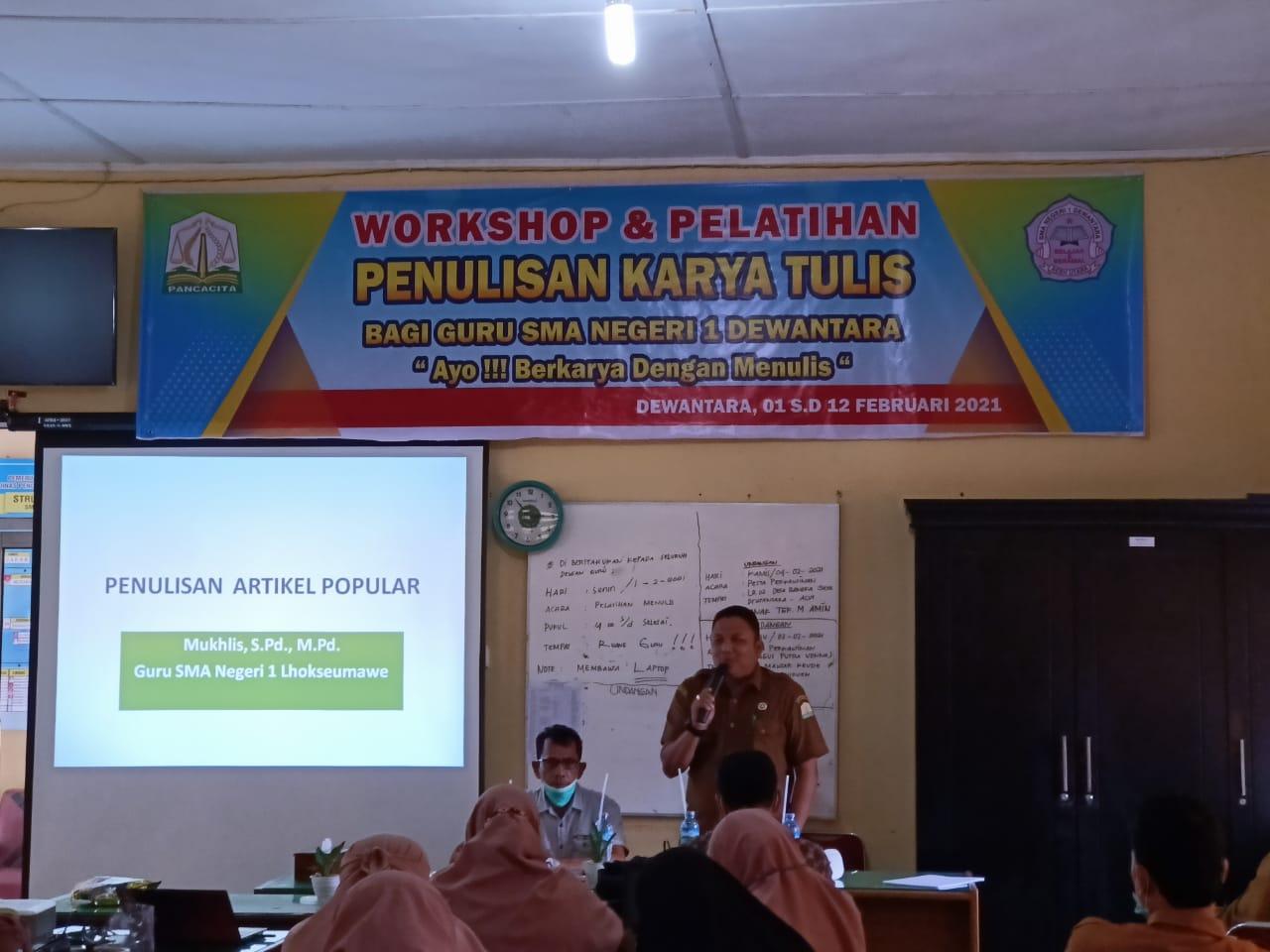SMAN 1 Dewantara Gelar Workshop Karya Penulisan Bagi Guru