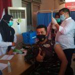 Bersama Unsur Forkopimda Langsa Dandim 0104/Aceh Timur Terima Vaksin.
