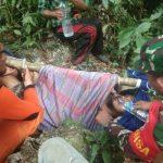 Tim Gabungan TNI-POLRI dan SAR Berhasil Evakuasi Warga Yang Jatuh ke Jurang Simpang Jernih