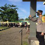 Kapolres Lotara AKBP Feri Jaya Satriansyah,SH Pimpin Apel pengamanan Pelantikan Bupati dan Wakil Bupati KLU