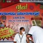 Vaksinasi COVID-19 Tahap Pertama Di Polres Aceh Timur