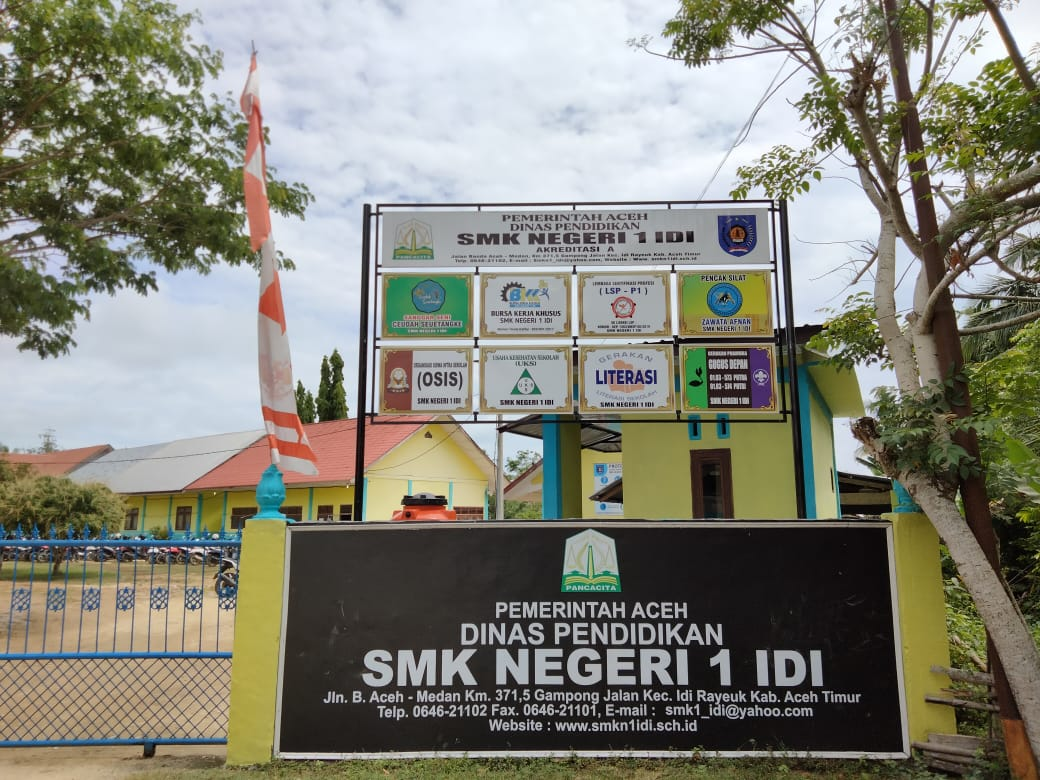 SMKN 1 IDI, Kabupaten Aceh Timur Laksanakan Ujian Sekolah Secara Online