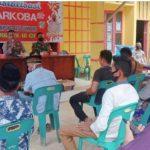 Koramil dan Polsek Simpang Jernih Mensosialisasikan Upaya Pencegahan Peredaran Narkoba kepada Masyarakat