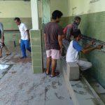 Pemuda dan Masyarakat Kelurahan Dayen Peken Bergotong Royong Rehab Saluran (Pipa) Wudhu' Sebagai Peesiapan Bulan Ramadhan