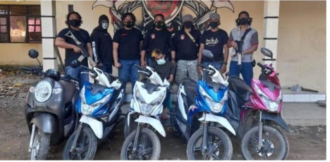 Polresta Bima Berhasil Menangkap SG (Fir'aun) Bersama 5 Unit Motor Hasil Curiannya.