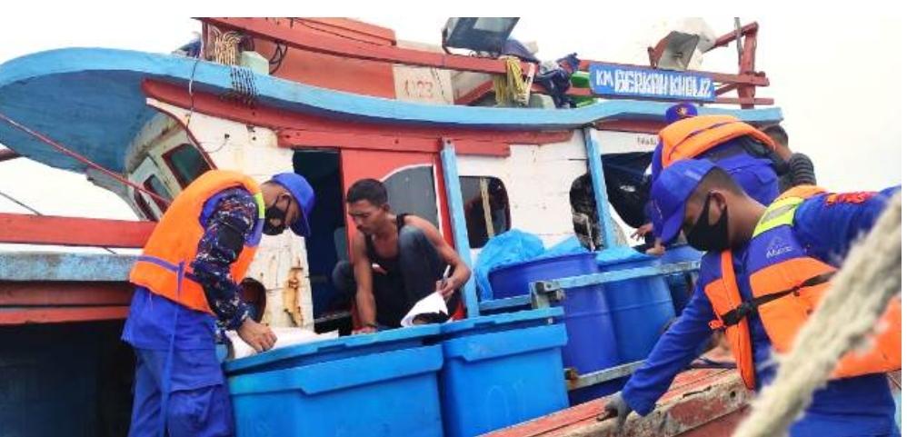 Sosialisasi Protokol Kesehatan Dalam Kegiatan Patroli SatPolAir Aceh Timur