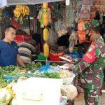 Menjelang Hari Raya Idul Fitri Babinsa Kodim 0104/Atim Pantau Harga Sembako