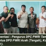 The residence of the Chairperson of the Aceh PWRI DPD was Visited by Persons of the Press.