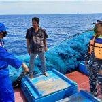 Satpolairud Polres Aceh Timur Bersama TNI AL Antisipasi Masuknya Pengungsi Rohingya
