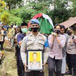 Pemakaman Briptu Bayu Andreansyah Dihadiri Waka Polres Aceh Timur