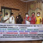 Komunitas Tionghoa Lombok Berikan Bantuan 300 Paket Sembako ke Pemda KLU