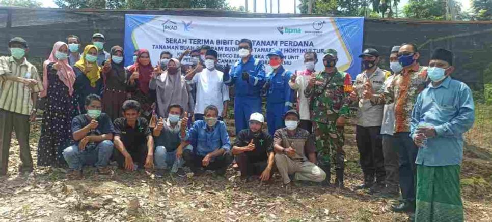 Perusahaan MiGas Berikan Bantuan Bibit Unggul Bagi Masyarakat Indra Makmur Aceh Timur