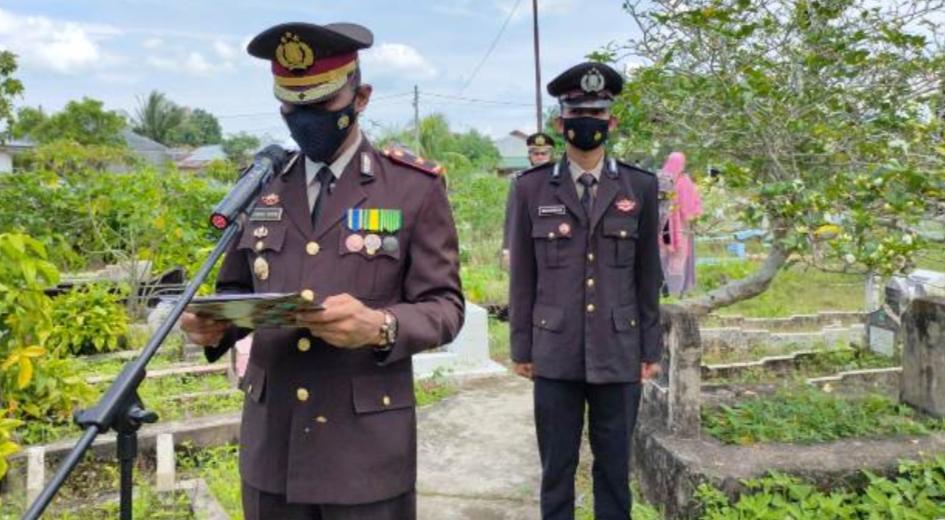 Jajaran Polres Aceh Timur Berduka Atas Meninggalnya Aiptu Gunawan