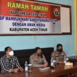 Kapolres Aceh Timur Silaturahmi Dengan Awak Media