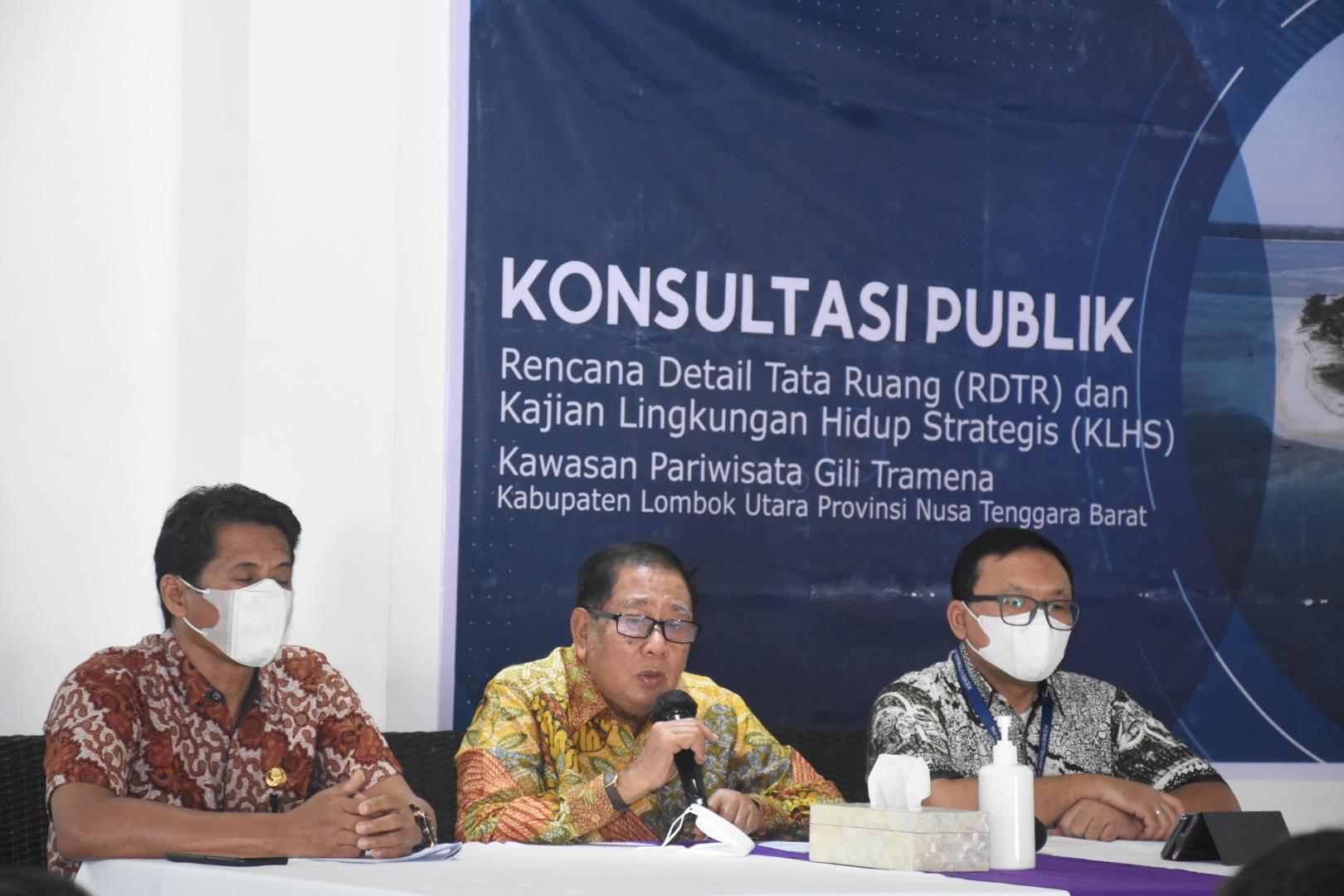 *Bupati Lombok Utara Buka Konsultasi Publik RDTR dan KLHS Kawasan Gili Tramena*