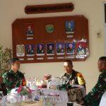 Tim Wasev Mabesad Disambut Hangat Oleh Unsur Forkopimda Kota Langsa di Makodim 0104/Atim